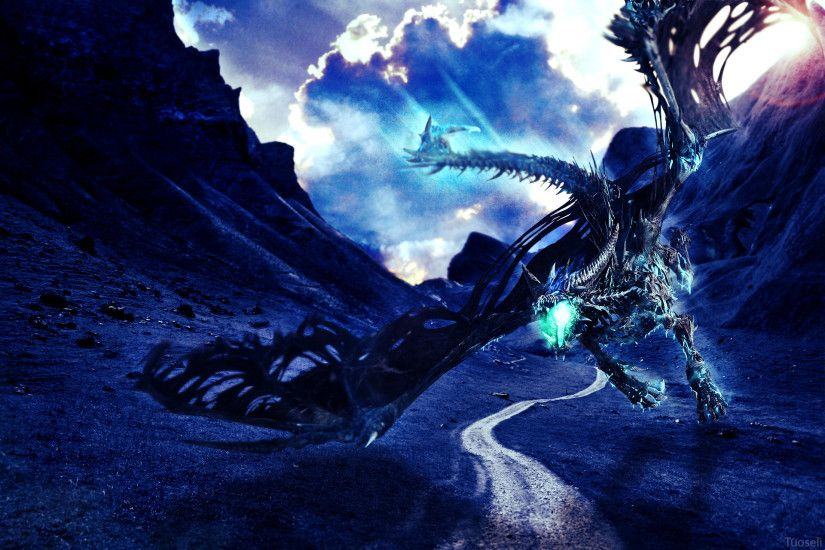 Blue Dragon Wallpaper by Tuoseli Blue Dragon Wallpaper by Tuoseli