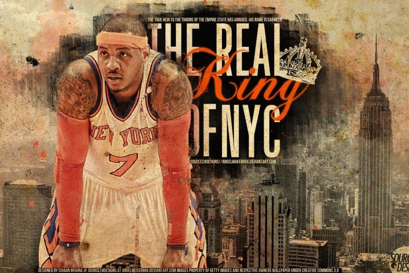 ... Carmelo Anthony Game Winner Knicks Wallpaper by IshaanMishra