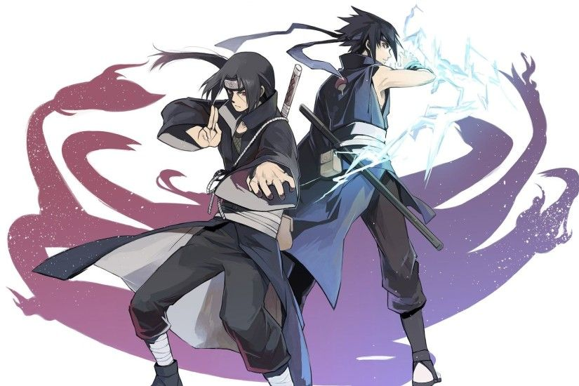 itachi uchiha and sasuke uchiha naruto anime hd wallpaper