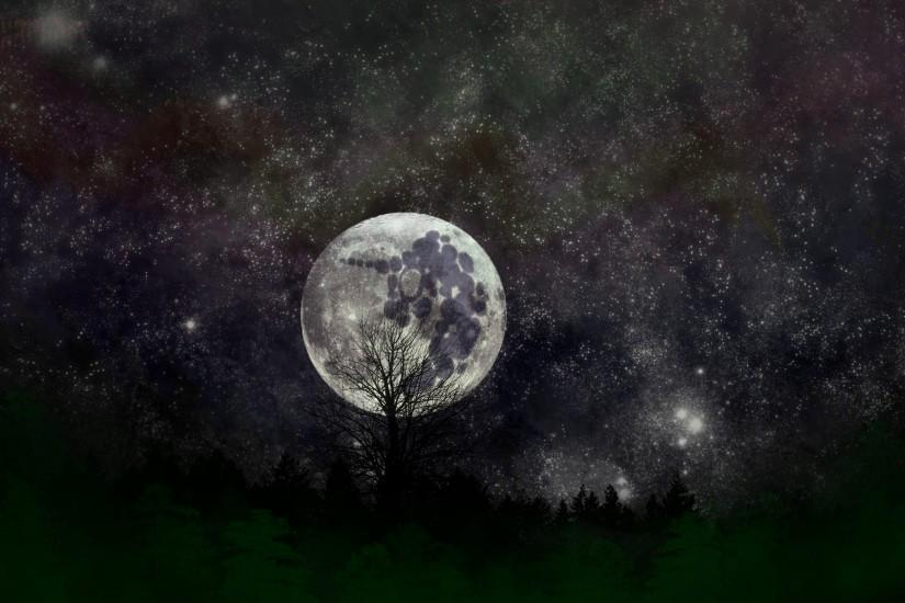 large moon wallpaper 2276x1280