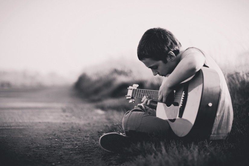 2560x1600 Lonely Boy Playing Guitar HD Images - New HD Wallpapers