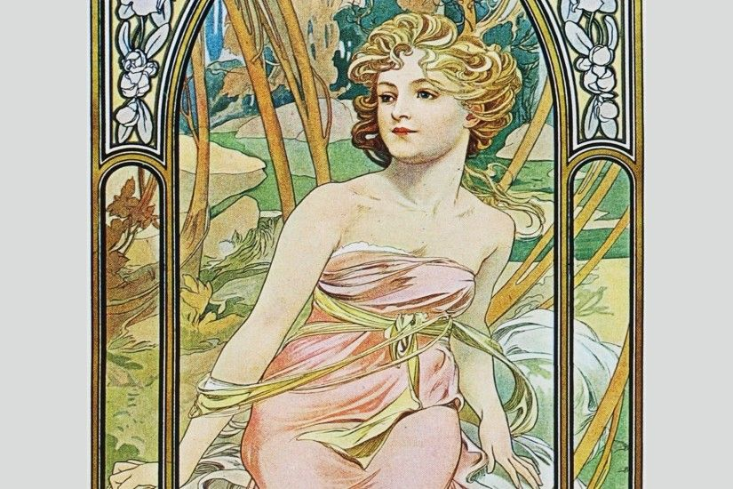 Alphonse Mucha Background Full HD Wallpaper Background Photos Download HD  Free Windows Wallpaper Samsung Mac 1920x1080
