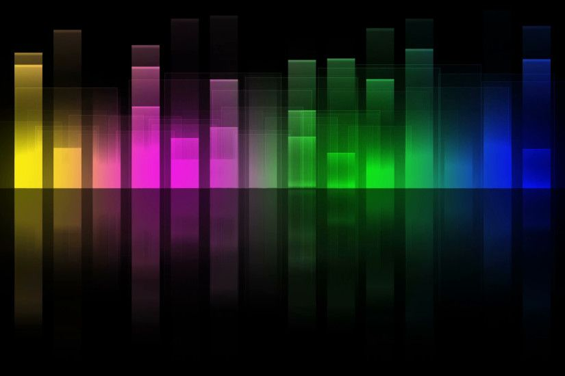 Music Graphics Equalizer Multicolored