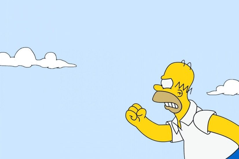 1920x1440 Free homer and bart motorcycle jump wallpaper background