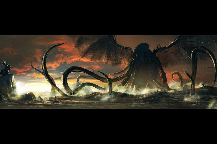 Cthulhu in the ocean wallpaper - Fantasy wallpapers - #18782