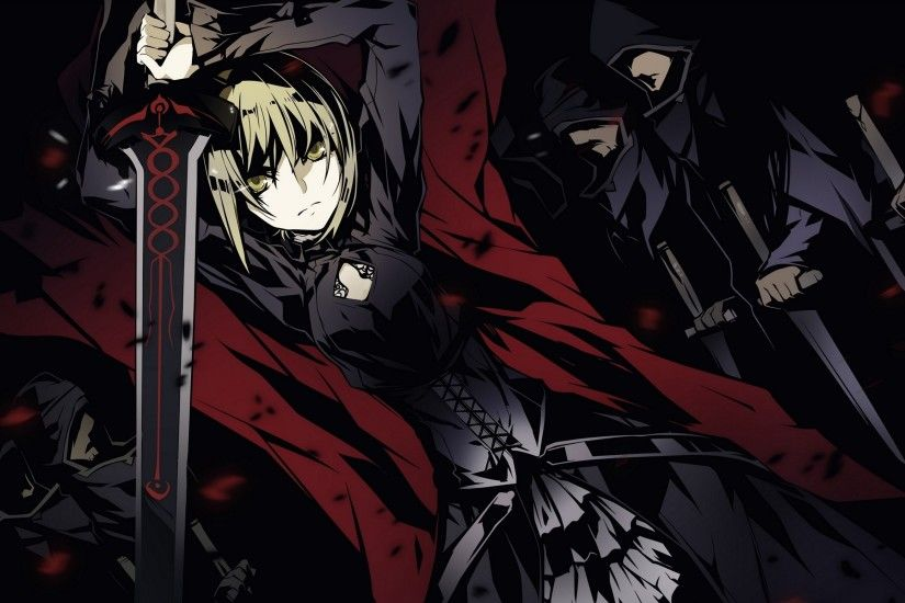 Girl Blonde Sword Anger Shock People Inspired Anime Halloween Wallpaper