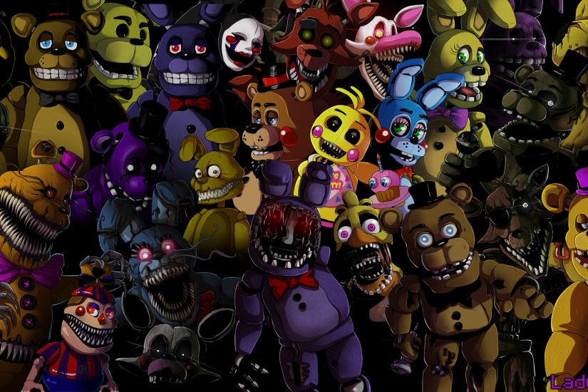 ... Five nights at Freddy's animatronics wallpaper by LadyFiszi
