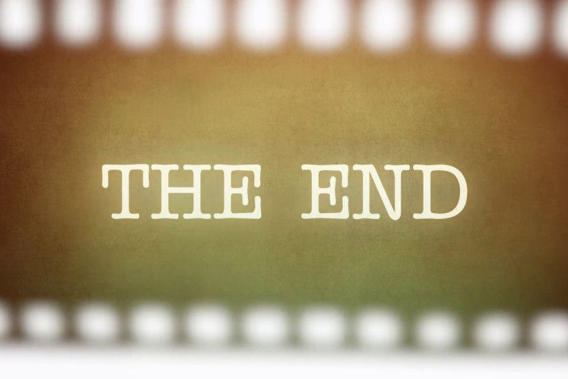 Film vintage Is This The End strip. Animation of a retro vintage old  fashioned end title as seen in old horror movies, asking Is this The End?.