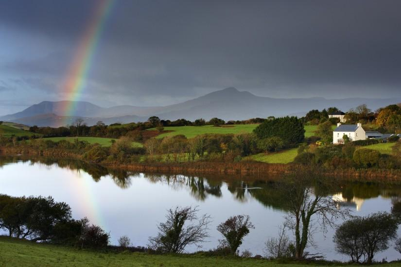 Ireland Rainbow Wallpaper