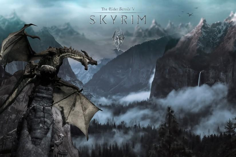 Download Dragon skyrim wallpaper HD.