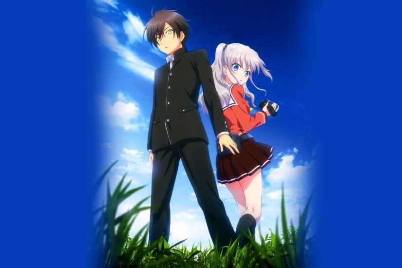 1920x1200 Anime AA Romantic Couple Paradise Wallpaper