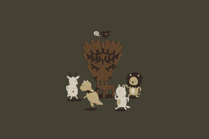 A Song Of Ice And Fire Dance Deer Dragons Funny Game Thrones House  Baratheon Lannister Stark Targaryen Lions Minimalistic Throne Wolves