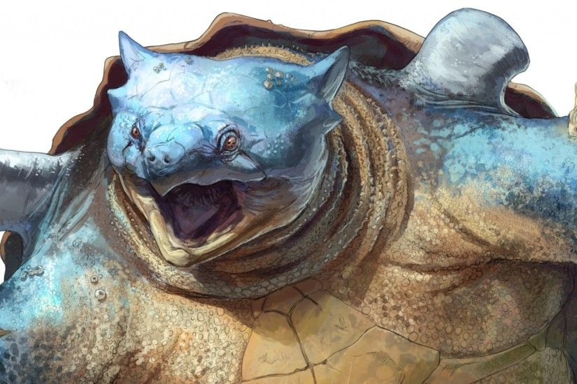 2560x1080 Wallpaper blastoise, pokemon, turtle, shell