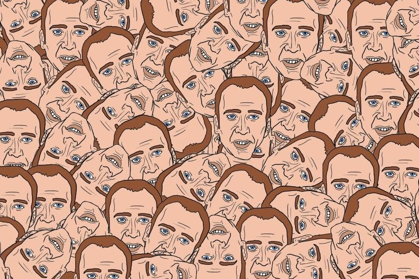 2560x1440 Wallpaper nicolas cage, texture, portrait, face