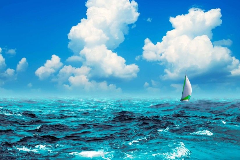 Sail, Boat, In, The, Sea, Desktop, Background, Wallpaper, Sea, Download,  Free, Windows Wallpaper, Widescreen, Wallpapers For Large Screens, ...