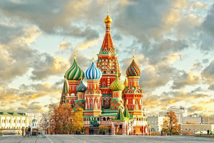 Saint Basil's Cathedral Moscow wallpaper HD background download .