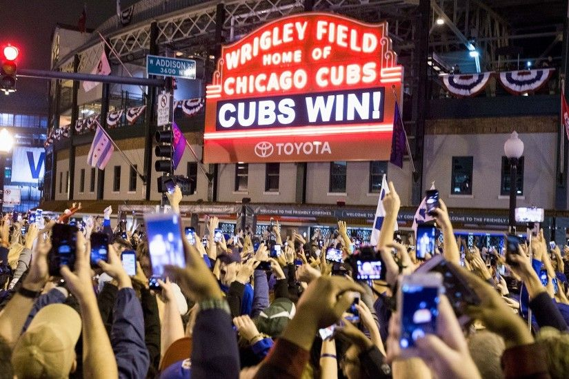 Cubs fans react to World Series .