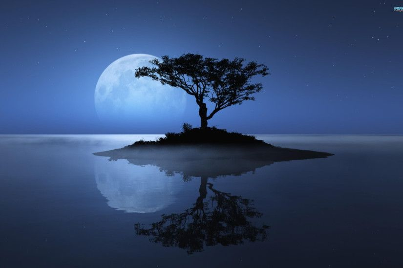 blue moon tree river desktop background background images mac apple  colourful cool desktop wallpapers high definition 4k 2560×1600 Wallpaper HD