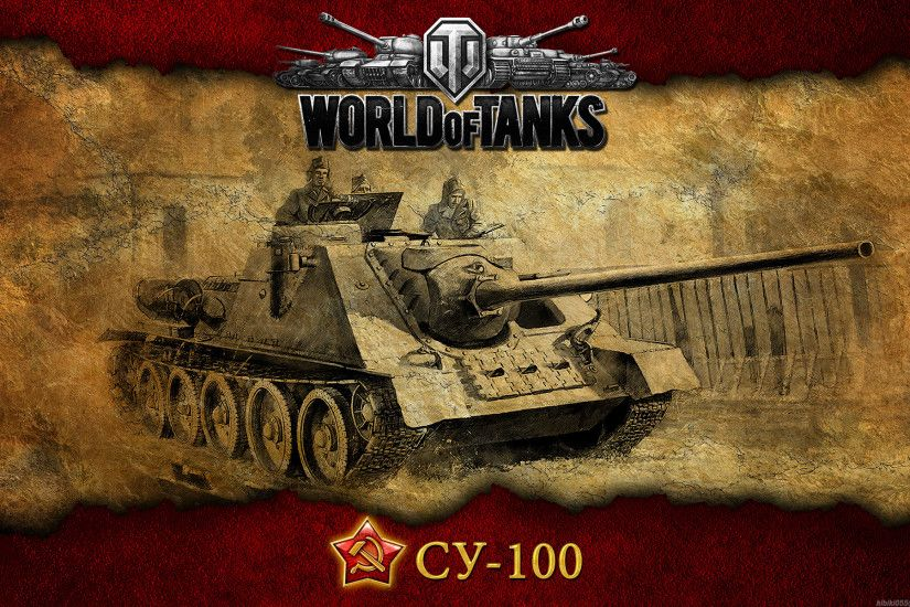 Wallpaper World of tanks, Tank, Ussr, Pt-acs, Su-100 HD, Picture, Image