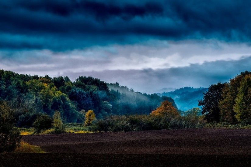 Dark Tag - Clouds Weather Nature Trees Landscape Storm Sky Forest Dark  Stormy Blue Wallpaper Download