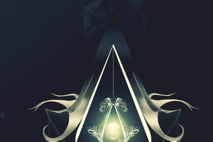 3840x1200 Wallpaper assassins creed, desmond miles, assassins symbol,  background, light, quote
