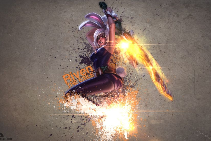 Battle Bunny Riven by xRazerxD HD Wallpaper Fan Art Artwork League of  Legends lol