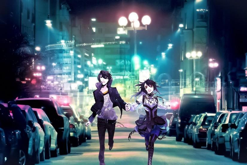 fantasy Art, Anime, City, Street, Lights, Colorful Wallpaper HD