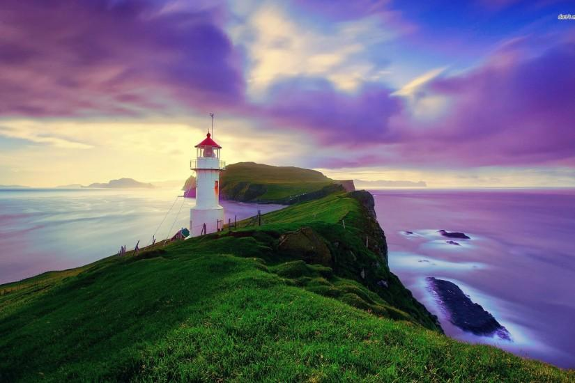 Mykines Lighthouse Wallpaper