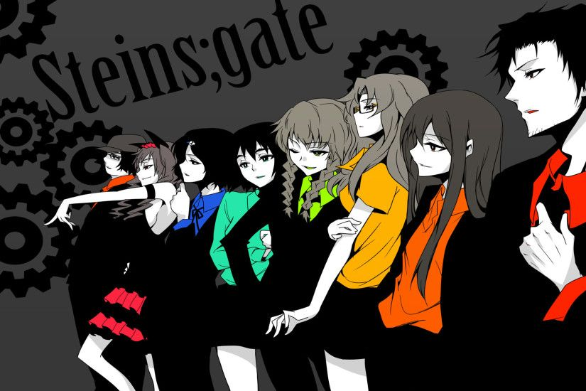 Found this cool Steins;Gate and Reservoir Dogs mix wallpaper today  [1920x1200] ...