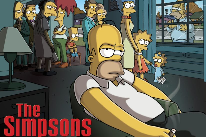 The Simpsons - The Godfather wallpaper 1920x1200 jpg