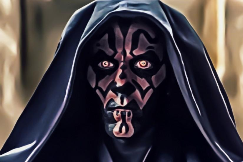 Preview wallpaper star wars, darth maul, art, face 3840x2160