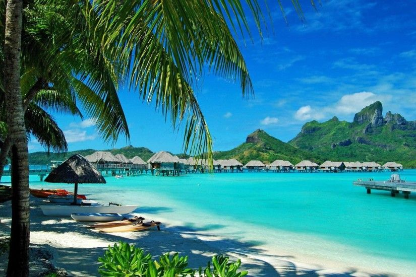 Bora-Bora Beach Photo HD - Beaches & Islands Wallpapers