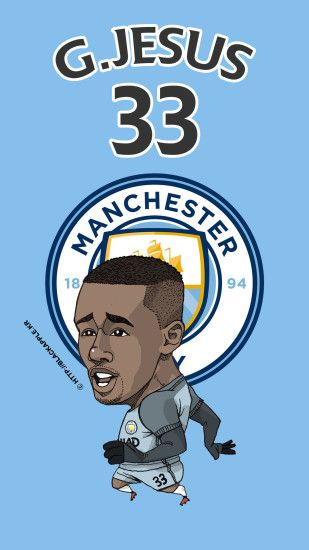 Manchester City No.33 Gabriel Jesus Fan Art