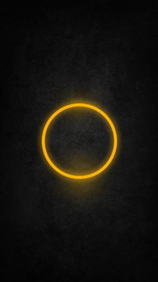 Yellow Halo iPhone 6 / 6 Plus and iPhone 5/4 Wallpapers