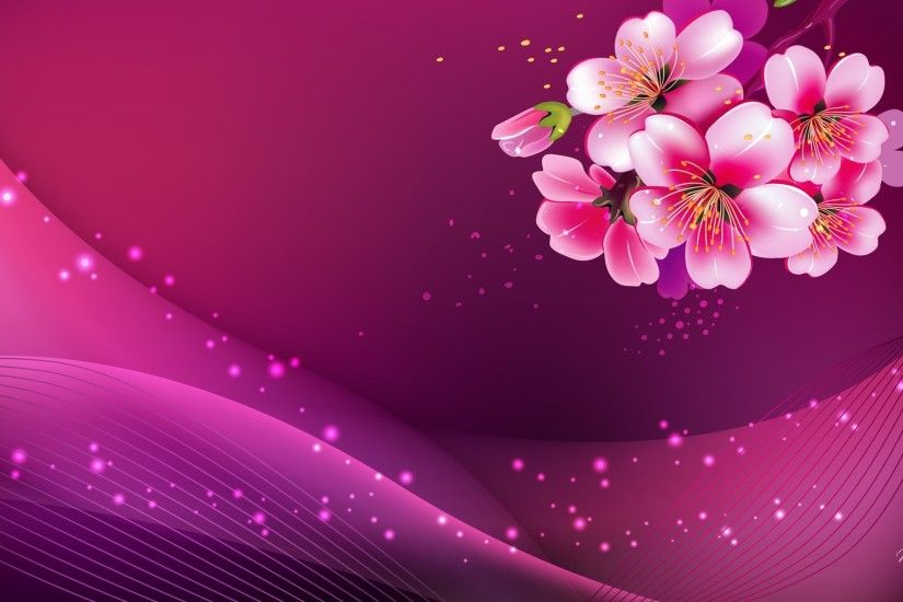 widescreen pink background hd image pc
