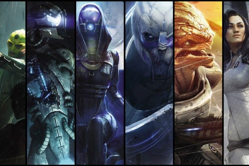 video games legion Mass Effect Miranda Lawson grunt Mass Effect 2 Garrus  Vakarian Thane Krios Tali