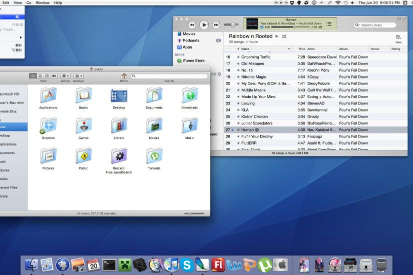 ... Os X Liger _ A theme for Mountain lion by rhubarb-leaf