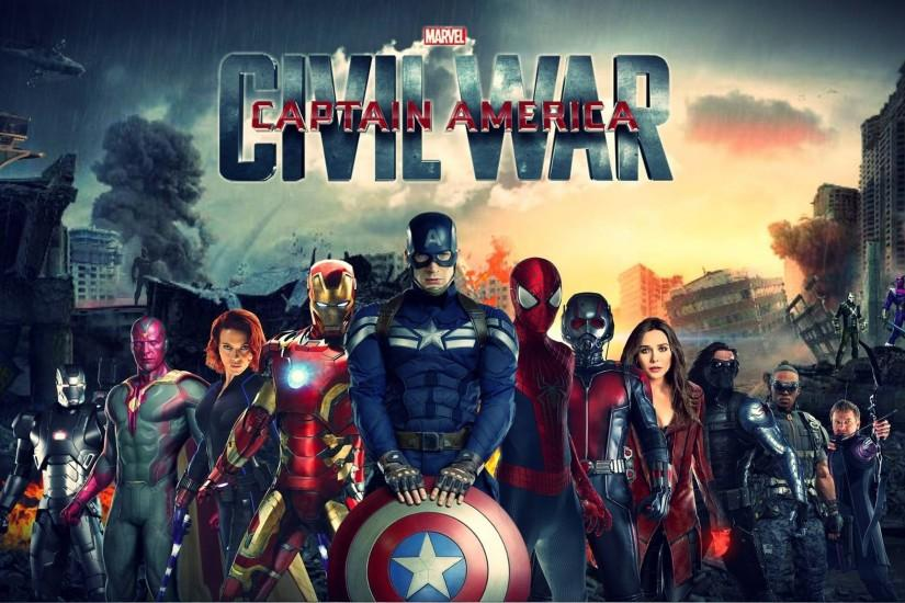 cool captain america civil war wallpaper 2048x1152