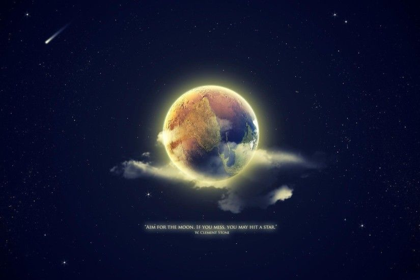 planet land moon star quote statement background wallpaper