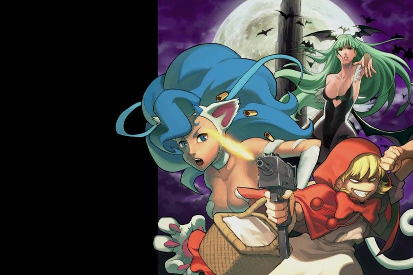 DARKSTALKERS Vanpaia Vampire fighting Capcom anime gothic fantasy .