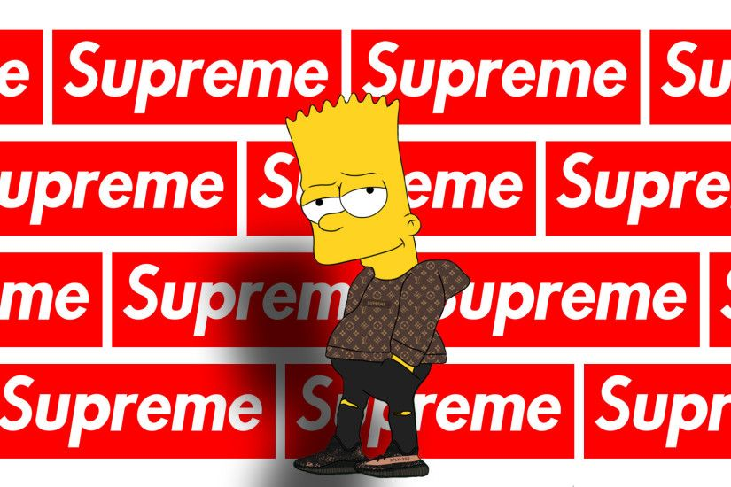 Supreme X Bart Simpson Wallpaper