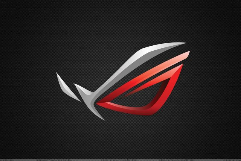 Asus ROG Logo On Black Background Wallpaper