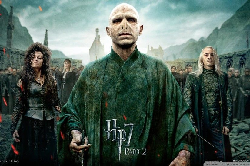 Vilains: Bellatrix Lestrange, Voldemort & Lucius Malfoy - Harry Potter and  the Deathly Hallows