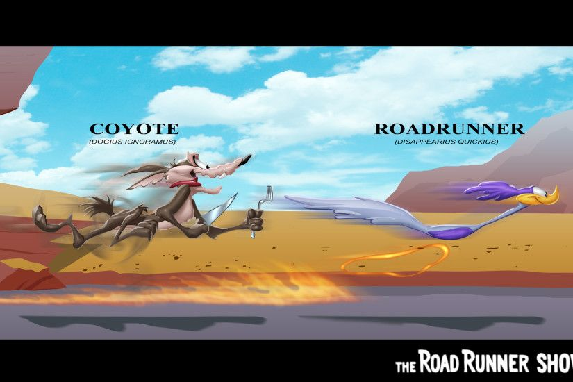 Cartoon - Wile E. Coyote and The Road Runner Wallpaper