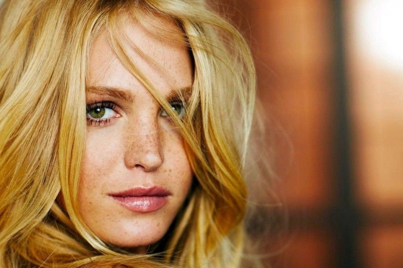 women, Erin Heatherton, Blonde, Green Eyes, Face, Model