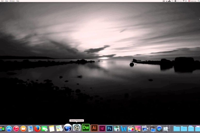 how to set a picture as desktop wallpaper on mac youtube