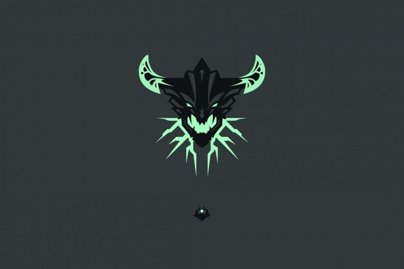 Simplistic simple background dota 2 outworld devourer wallpaper