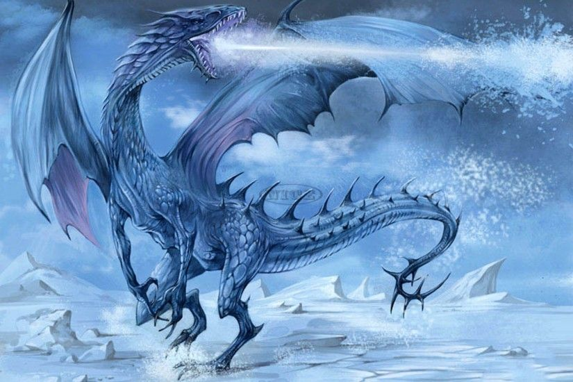 Image for Fantasy Ice Dragons Wallpaper Cool HD