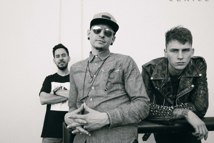 Chester Bennington, Machine Gun Kelly & /u/MaximumCortez photos from their  european tour!!