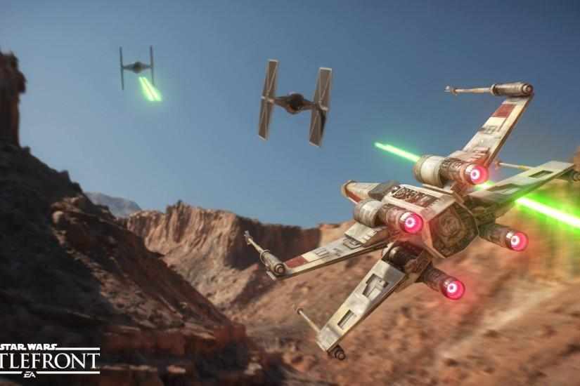 Star Wars, Star Wars: Battlefront, X wing, TIE Fighter, Tatooine,  Dogfights, Dogfight Wallpaper HD